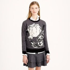 J Crew floral graphic print over sized sweatshirt